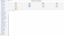Virtualmin services configuration screenshot